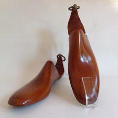 Joseph Box Vintage Wooden Hinged Lasted Shoe Trees Ladies Size UK 6 Decor Props