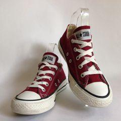 Converse Women's All Star Burgundy Canvas Baseball Boots Low Rise Size UK 4 EU 36.5
