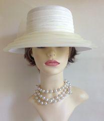 Ladies Fabric Net Ribbon Rosette Black Dress Hat Wedding Vintage Functions Church Races