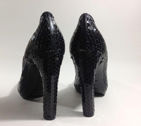 78eb715150d Miu Miu (Prada) Black Sequin Court Shoes Pumps Size UK 4.5 EU 37.5 ...