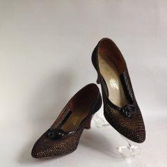 Bective A Stunning Pair of Bronze 1950s Vintage Court Shoe Size UK 4.5 EU 37.5 US 6.5C