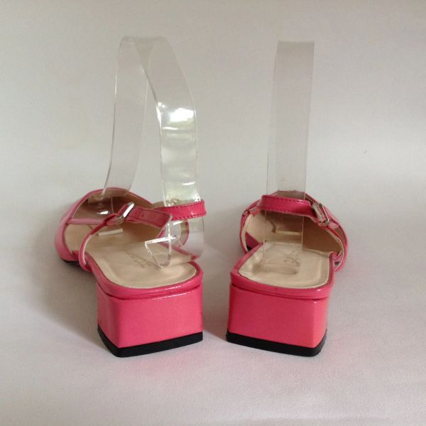 35f8b0f78bc Hobbs Hot Pink Patent Leather Slingback 1.5