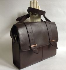 Clarks Brown Leather Medium Sized Satchel Style Shoulder Bag Unlined