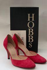 """HOBBS Sophia Suede Hibiscus Full Dorsay 3.25"""" Kitten Heel Court Shoe With Original Box"""