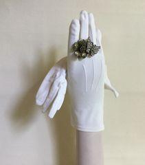 """Dents Vintage 1950s Ivory Bri Nylon 9.5"""" Evening Gloves Wedding Church Size 6.5"""