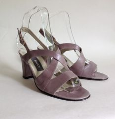Bally Dusky Pink Leather Block Heel Strappy Sandal Shoe UK 3 EU 36