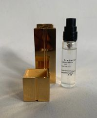 Givenchy Vintage Refillable 5ml Bottle With Perfume & Outer Gold Toned Case