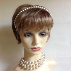 Faux Pearl Beaded Hairband Headband Flexible Wedding Bridesmaids Vintage Attire