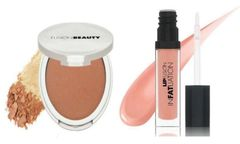 FusionBeauty Glow Fusion Micro-Tech Bronzer &FusionBeauty Lipfusion Infatuation Liquid Shine Lip In The Flesh Set