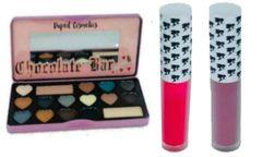 Semi Sweet Eyeshadow Palette+2Pcs Doll Face Matte Lipstick Set