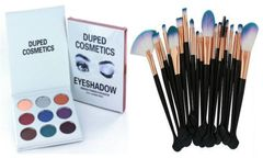 The Holiday Palette by Duped + Pro 20pcs Makeup Brushes Tool Set