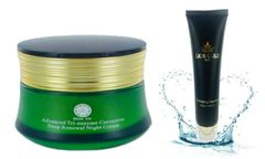 Shin Co Deep Renewal Night Cream+Lior Gold Paris Exfoliating Cleanser Set