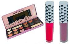 Duped Sweet Peachy Eyeshadow Palette+2Pcs Doll Face Matte Lipstick Set