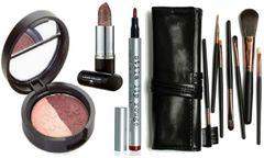 Laura Geller Eyeshadow+Berry Banana Lips+Stila Lip Rouge+Df 7Pcs Brush Set