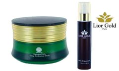 Shin Co Deep Hydration Mask+Lior Gold Paris Milk Cleanser Set