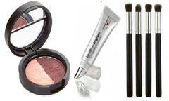 Laura Geller Eyeshadow Duo+Banish-N-Brighten Concealing+4Pcs Brush Set