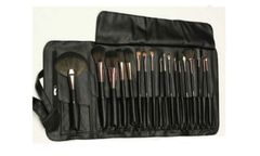 Dollface deluxe professional 18 Pc brush set & travel wrap