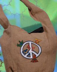 Grateful Dead Dancing Bear Cotton Peddler Bag