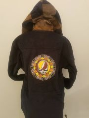 Grateful Dead Tribal SYF Black Corduroy Hoodie