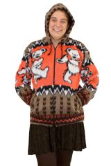Grateful Dead Tan Dancing Bear Alpaca Style Jacket