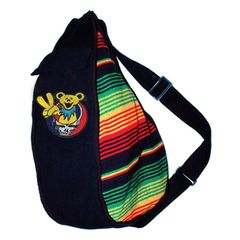 Grateful Dead Rasta Bear Sling Backpack