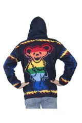 Grateful Dead Navy Dancing Bear Alpaca Style Jacket