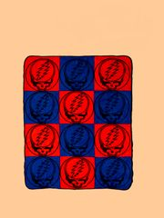 Grateful Dead SYF Checkerboard Fleece Throw