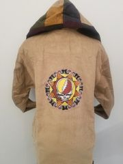 Grateful Dead Tribal SYF Tan Corduroy Hoodie