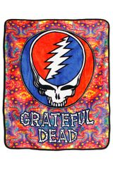 Grateful Dead SYF Fractal Fleece Throw