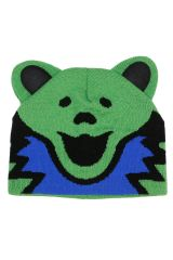 Grateful Dead Knit Beanie Bear Hat Green