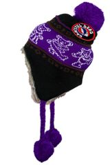 Grateful Dead Dancing Bear Ski Hat Purple