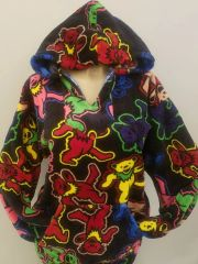 Grateful Dead Dancing Bear Jumble Fleece Baja