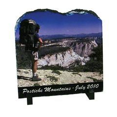 Custom 7.8 x 7.8 Tablet Photo Rock Slate