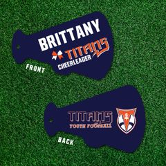 Cheerleading Titans Bag Tags
