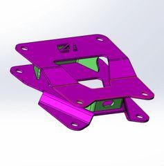 RZR XP TURBO / RS1 RADIUS ROD CHASSIS BRACE / RAW