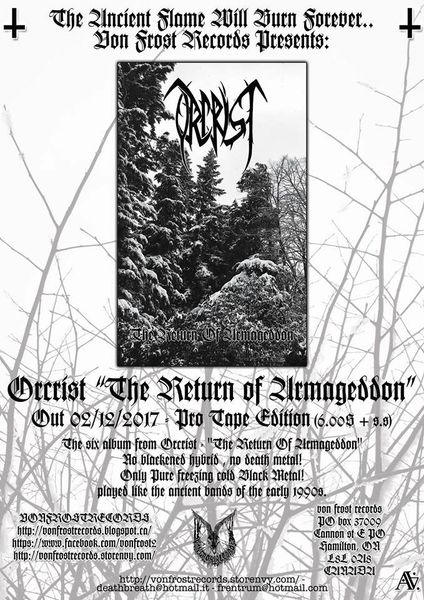 Orcrist - The Return Of Armageddon ( Cassette ) VFR !