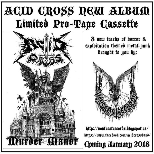 Acid Cross - Murder Manor ( Cassette ) VFR !