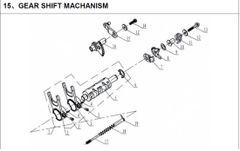 250cc Gear Shift