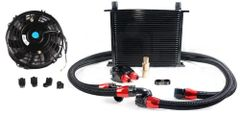 Oil Cooler Kit with Electric Fan.Dual Pass Cooler