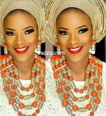 AD105T African Nigerian Beads necklace set