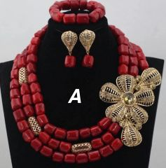 JA100A 100% Genuine Coral beads necklace set