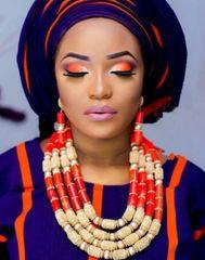 DD303 African Nigerian Wedding Necklace Set