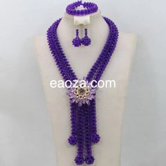 #00EA93A- African Nigerian Beads Wedding Necklace Set