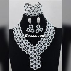 ZE100Z1 African Nigerian Beads Wedding Necklace Set