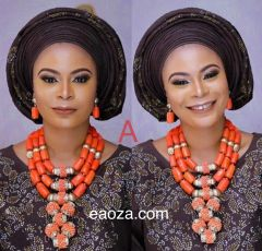EA00132_ High Quality Luxury coral beads for African Nigerian Traditional weddings