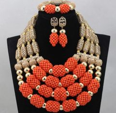 DD30 African Nigerian Wedding Necklace Set