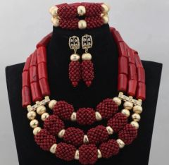 DD28 African Nigerian Wedding Necklace Set