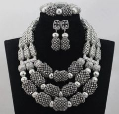 ADD25 African Nigerian Wedding Necklace Set
