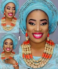 DD302 African Nigerian Wedding Necklace Set