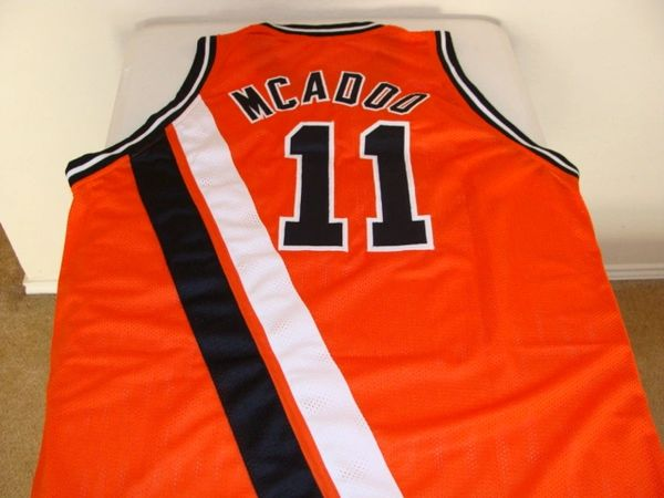 f7361045612c  11 BOB McADOO Buffalo Braves NBA F C Orange Throwback Jersey